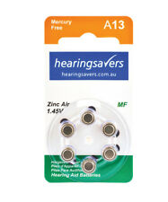 NEW HEARING SAVERS Hearing Aid Batteries size 13 from Hearing Savers