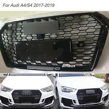 Front Grill Honeycomb Bumper Grille W/Camera Slot For 2017-19 AUDI A4/S4 On Sale