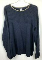 Columbia Sportswear Men's Size 2XL Crew Knit Sweater Long Sleeve Pullover Gray