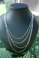 RARE Sterling Silver Chain 98 Inches & 35 Grams.