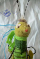 "Meet ""PEST"" a 6"" felt BUG artist doll by CATHY PETERSON ~ Roosevelt Bear Co OOAK"