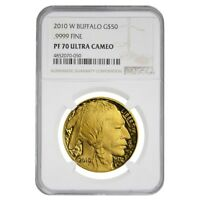 2010 W 1 oz $50 Proof Gold American Buffalo NGC PF 70 UCAM