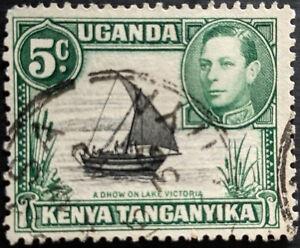 Stamp Kenya,Uganda, Tanganyika SG132 1937 5c Dhow on Lake Victoria Used