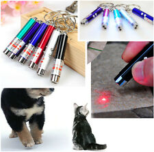 Mini Ultraviolet Money Detector Red Laser Pointer Pen LED Light Keychain Cat toy