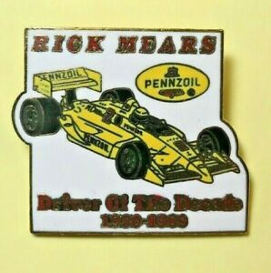 RICK MEARS PENNZOIL DRIVER of the DECADE 1980-1989 PIN RACING INDY 500 NIP