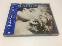 "MADONNA ""True Blue"" JAPAN CD w/sticker-obi   3200yen 32XD-449   11A1 FS"