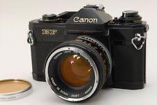 【EXC+++】Canon EF 35mm SLR Film Camera Black Body w/FD 50mm F1.4 From Japan