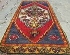 """Antique 1930-1940s Tent-Woven Natural Dye Wool Pile Rug 1'5""""×3'7"""""""