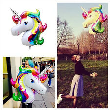 Unicorn Large Rainbow Foil Helium Balloon Children Birthday Party Decoration