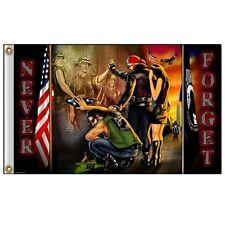 Biker Motorrad Vietnam Pow Mia Veteranen USA Army Flag Flagge Fahne Banner NEU
