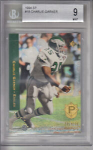 1994 SP Card #18 Charlie Garner EAGLES BVG 9 MINT Z21261 - BVG Mint 9 )