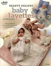 New listing Heart's Delight Baby Layettes crochet Book Christening Dress Booties Bonnet
