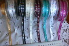 Satin Ribbon with Sequin s in centre 9mm wide 3 Mtr Length Green Tara ChoiceAL5