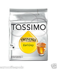 Tassimo twinings thé earl grey 2 packs de 32 t-discs/portions