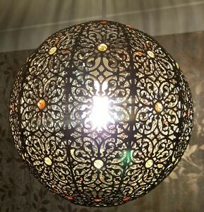 Moroccan Sphere Hanging Ceiling Lamp Shade . 27cms Pendant Light shades
