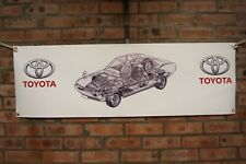 Toyota Celica coupe 1600 GT TA22 large pvc  WORK SHOP BANNER garage