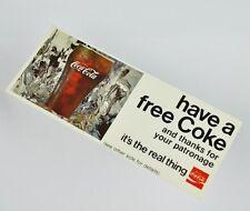 Bel COCA-COLA coupon USA 1970er-have a free COKE