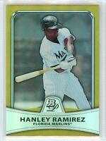 2010 Bowman Platinum GOLD REFRACTOR #12 HANLEY RAMIREZ (Marlins) *379/539 NM