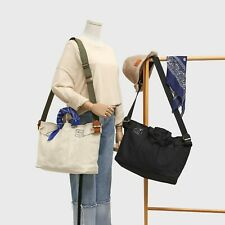 Canvas Tote Bag Crossbody Bag Shoulder Bag Handbag Adjustable Removable Strap