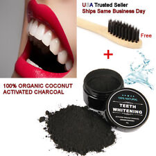 Natural Teeth Whitening Activated Charcoal Toothpaste Powder Bamboo Toothbrush