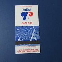 MONTREAL EXPOS  1972  RON HUNT  schedule Matchbook cover  RARE