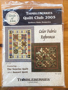 Thimbleberries 2005 Quilt Club -  Patterns for Sunrise and Sunset Quilts