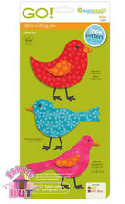 55324- New Accuquilt GO Birds Wings Fabric Cutting Die Baby 3 Three Little Birds