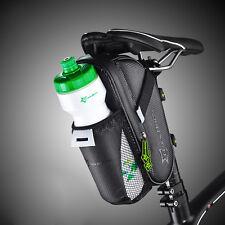 RockBros Bicycle Saddle Bag Pannier MTB Road Bike Cycling Black Tail Storage Bag