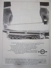 7/1970 PUB STRUVER FLUGFELD TANKWAGEN CAMION CITERNE ESSO PAN AMERICAN FRENCH AD