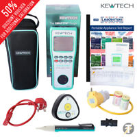 Kewtech SMARTPAT battery operated PAT Tester   Uno and KTP1 plus extras KIT4Y