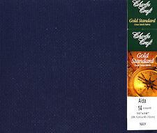 "Charles Craft Navy 14 Ct Aida XStitch Fabric / Cloth 15"" x 18"" #GD-1436-5225"