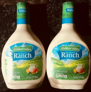 TWO MASSIVE Bottles Hidden Valley Ranch Dressing 24fl Oz EACH American Import