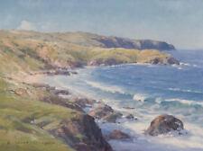 Ramon Ward Thompson 1941- Original Oil Painting on Canvas Coastal Landscape SFAA