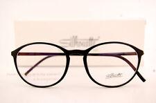 New Silhouette Eyeglass Frames SPX ILLUSION 2889 6050 Black Women Men SZ 51
