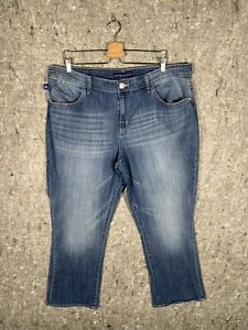 Rock & Republic Womens Kendall Capri Jeans Size 20 - Medium Wash Faded Jeans