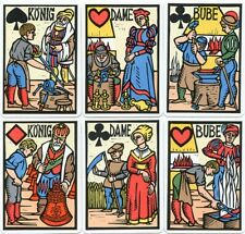 RARE VINTAGE GERMAN PLAYING CARDS - BURGDORF - CONSTANTINI - 1981