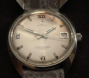 Omega Seamaster Cosmic Wrist Watch Vintage Silver Men's 136016-Tool 105 Origin