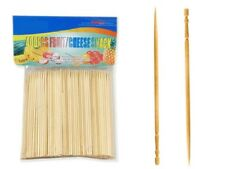 400 Pcs Bamboo Skewers Wood Sticks for BBQ Fondue Fruit Cheese Toothpicks 4 inch