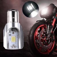 Motorcycle LED Headlight Bulb DC 6V-80V 12W Hi/Lo Beam COB BA20D H6 Light Lamp