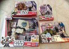 New Star Wars Playskool Galactic Heroes -4 Sets Luke First Order Sandtrooper Rey