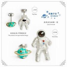 1 Pair Japan Style Universe Astronaut Saturn Club Women Stud Earrings Jewelry
