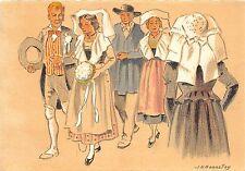 BR28278 Craquis Regionaux les junes maries folklore costumes 3