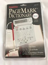 Franklin Page Mark Dictionary - Merrium Webster Dictionary