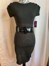 Derek Heart Sweater Dress, M. NWT. Gray.