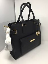 NWT AUTHENTIC MICHAEL KORS GEORGIA Large NS TOTE BLACK LEATHER Bag Purse
