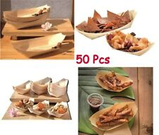Garden Party Plates BBQ Dry Food Disposable Large Snacks Buffet Camping Bamboo