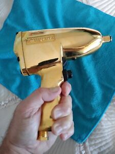 """GOLD PLATED SNAP-ON IM51 COLLECTIBLE DEALER AWARD 1/2"""" Drive Air Impact Wrench"""