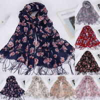 Women Long Wrap Scarf Tassel Shawl Flower Lace Scarf Scarves Mostforefront