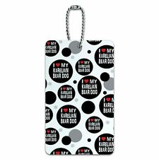 Luggage Card Suitcase Carry-On Id Tag I Love My Dog K-P
