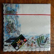 "New 24 Sheets Vintage Paper Napkins 14"" Yasutomo & Co. Japanese Scalloped Edges"